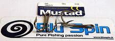 NEW Mustad 7982HS Double Hooks Ami Doppi Acciaio Inox SIZE: 6/0