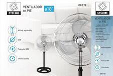 """Cyclone CY-F18 18"""" Ventilador de Pie - Negro/Plata"""