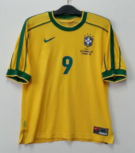 1998 Brazil Home shirt S/S No.9 RONALDO 1998 France WorldCup size L