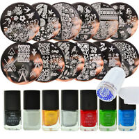20pcs/set Born Pretty  Nail Stamping Plates Kit Set Stamping Polish Tool