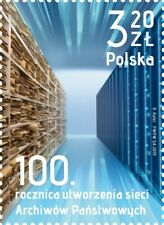 POLEN 2019 Stamp 100th anniversary of the creation of the network of State Archi