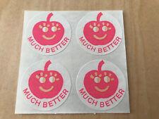 Vintage CTP 1977 Cherry MUCH BETTER Reward Label Sniff Sticker Sheer Of 4