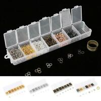 1 Box Open Jump Rings Round Oval Split findings Craft Jewelry DIY Findings Tools