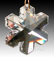 "Swarovski 8811- 6704 Austrian Crystal SNOWFLAKE Prism 35mm Suncatcher 1-3/8"""