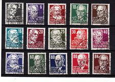 DDR 1952, Köpfe II, 327 - 341 Köpfe II Satz sauber gestempelt, siehe Scan
