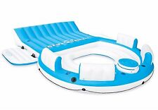 6 Person Large Inflatable Floating Island W/ Cooler Lounge Lake Party Pool Raft