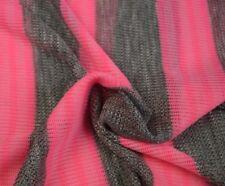 Stoff Jersey Strick Grau Neon Pink gestreift Streifen Grob Viskose 13€/m