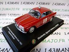 voiture 1/43 ALFA ROMEO : Giulietta sprint Veloce 1959 Monte Carlo 1962