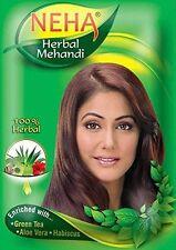 Neha Henna Mehndi Powder, 13 Herbs Blend, Herbal Hair Dye Color, 55 gm x 10 Pack