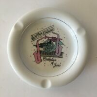 New Orleans Birthplace of Jazz White Vintage Collectible Ceramic Ash Tray USA