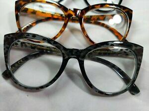 NIB 3 Pairs 🎆Choose Strength🎆 Betsey Johnson Oversized Reading Glasses Readers