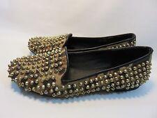 "STEVE MADDEN ""Studly"" Ballet Flats With Gold Studs Women's Size 8 EUC"
