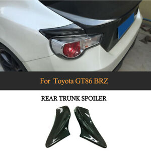 2X Carbon Heckspoiler für Toyota GT86 Coupe Subaru BRZ 2013-20 Hecklippe Spoiler