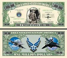US Air Force Million Dollar Bill Fake Funny Money Novelty Note with FREE SLEEVE