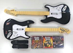 Playstation 3 PS3 Fender Stratocaster Guitar Set Game Bundle NO DONGLE