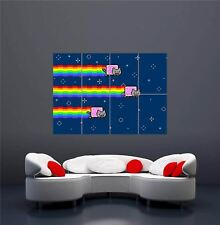 NYAN CAT RAINBOW FLYING SPACE PIXEL  NEW GIANT WALL ART PRINT POSTER OZ372