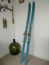 V2082 Alte Holzski ~ SKIER ~ SKI um 1920 ~ RAR ~ Super Winter Deko ~ ANTIK 199cm