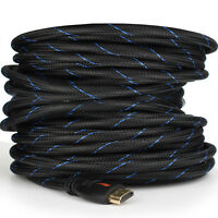 Ultra 2019 HDMI Cable 4K 1080P HD HDTV Video 3D Lead - 6/10/15/25/30/50/66Ft lot