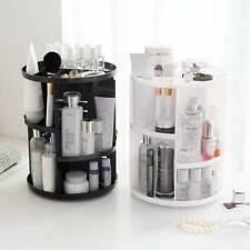 Adjustable Make Up Organiser Box 360 Rotating Cosmetics Storage Display Stand UK