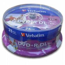 50 DL DVD+R VERBATIM DUAL LAYER PRINT PRINTABLE 8X XBOX 43667