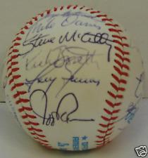 1981 OAKLAND A's Team signed ball 27 signatures PSA DNA