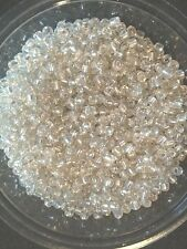 50g verre seed perles-argent silver-doublé-env. 3mm (taille 8/0) aka clair s/l