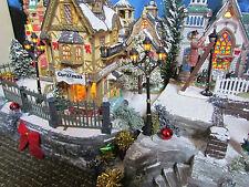 Christmas Village Display, OLD BRICK WALL, platform base 28x12 Dept 56 Dickens