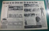 1956 Vintage ads Boy Scouts Of America Distributors Buster Brown Shoes
