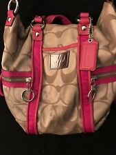 Coach Poppy Pink Handle Purse No. J1169-F13843 Great Condition