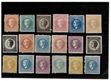 Serbia 1879/80 Prince Milan lot stamps I/V printing without gum (MH)