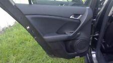 2009 09 Acura TSX Interior Door Trim Panel Black Left Rear   51694