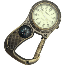 NEW FIRST HAND HEALTHCARE CLIP BELT WATCH ANTIQUE BRASS COMPASS PARAMEDIC NURSE