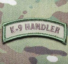 K9 HANDLER TAB MULTICAM POLICE DOG USA VELCRO® BRAND FASTENER MORALE PATCH