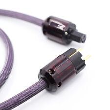 AC-313 HIFI 3x2.5mm² HIFI POWER CABLE Power Cord EU Schuko plug  Mains Cable