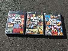 PS2 GTA Lot San Andreas Vice City Grand Theft Auto 3 III w cases AS SHOWN TESTED