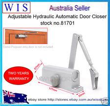 Adjustable Hydraulic Automatic Door Closer,Silver Door Closer,suits 45-60Kg81701