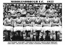 Middlesbrough f.c.team stampa 1955 (Fitzsimmons / Robinson / Harris)