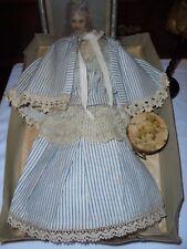 ancienne robe de poupée parisienne ,poupée de mode jumeau,gaultier circa XIX