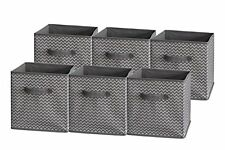 Sodynee Foldable Cloth Storage Cube Basket Bins Organizer Containers Drawers, 6