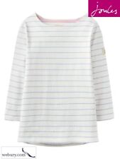 Joules Harbour Ladies Jersey Top in Grey Wide Stripe Sizes UK 8 - 18 12