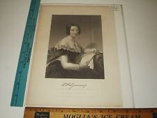 Rare Antique 1873 Lydia Huntley Sigourney Portrait from Chappel Art Print