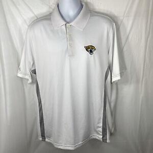Jacksonville Jaguars Men's Size XL Polo Shirt Antigua NFL Embroidered Logo