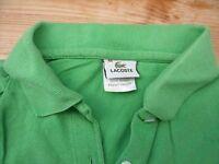TP1272 LACOSTE made in Peru Damen POLOSHIRT Polo-Shirt Grün kurzarm Gr.40 TOP
