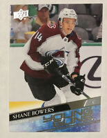 Shane Bowers RC 2020-21 Upper Deck Young Guns Rookie # 240 Colorado Avalanche