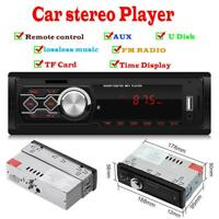 12V Car Stereo Audio In-Dash FM AUX Input Receiver TF USB MP3 FM Radio Player