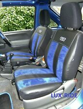 ECO LEATHER & ALICANTE TAILORED FRONT SEAT COVERS FOR SUZUKI JIMNY 1998 - 2012