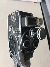 Vintage Bolex Paillard D-8L 3-Lens 8mm Movie Camera Mint Condition w/ Orig Case