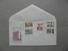 NETHERLANDS, cover FDC E21 1955, architecture, cover blanco