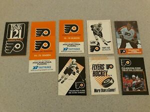 LOT OF 22 PHILADELPHIA FLYERS & SIXERS SCHEDULES MAGNET EXCELL COND FREE SHIP