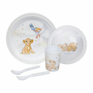 Disney Feeding Set Lion King - Simba design - Melamine - Cup Bowl Plate Cutlery